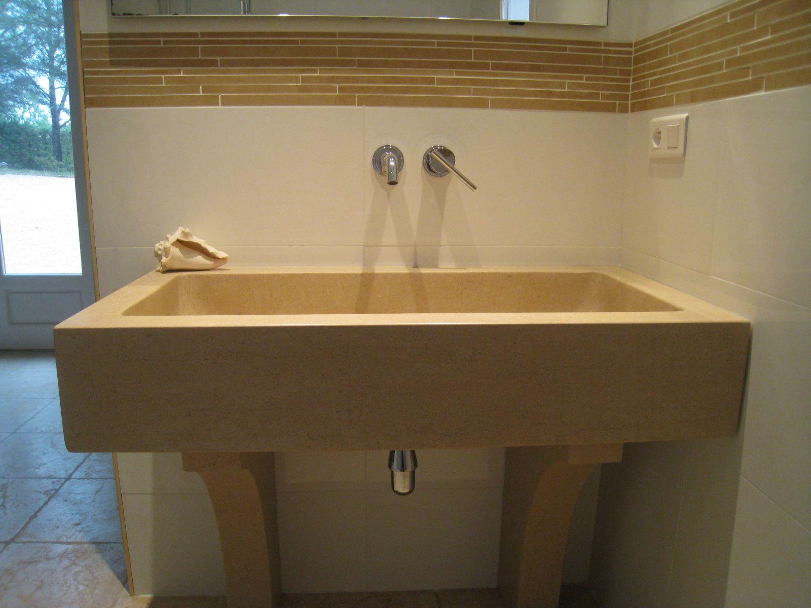 Plan Vasque Sur Mesure vasque de salle de bain sur mesure en pierre naturelle à aix