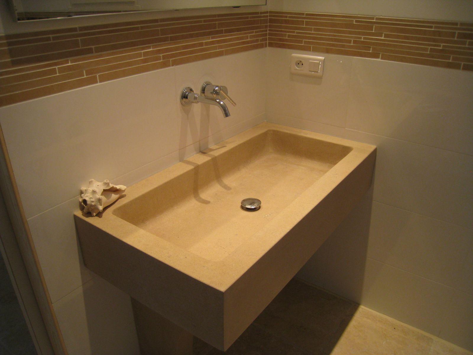 Vasque de salle de bain sur mesure en pierre naturelle à Aix ...