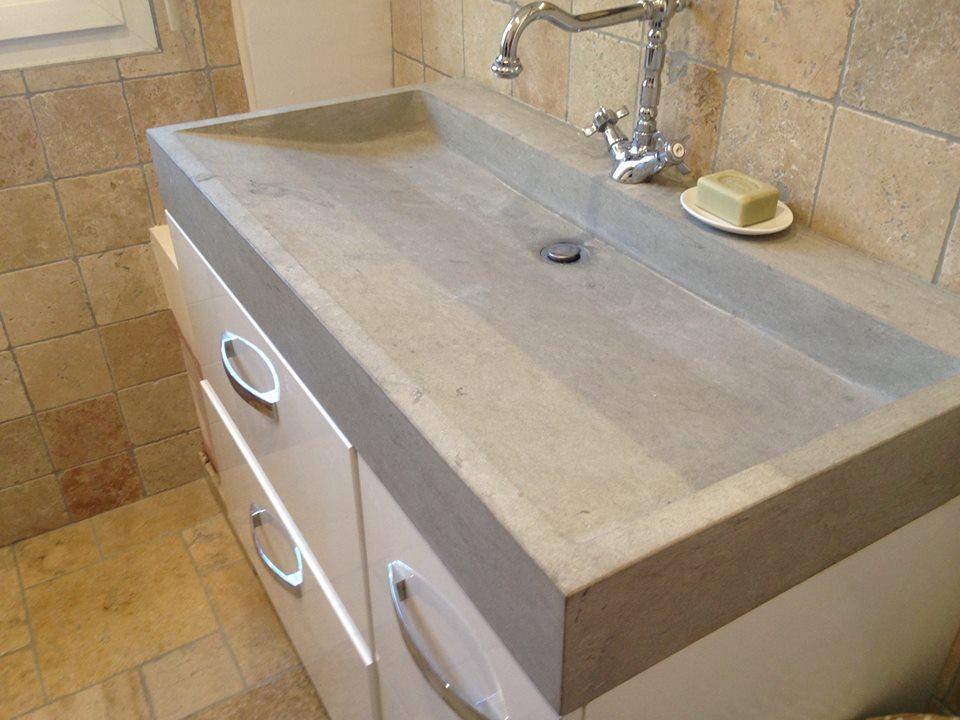 Vasque de salle de bain en Pierre à Aix en Provence ...